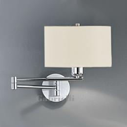 Touch Wall Light Aluminium and Polished Chrome