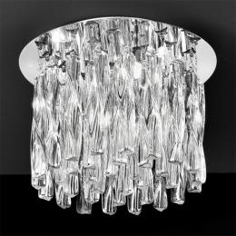 4 Light Chrome and Twisted Glass Ceiling Light