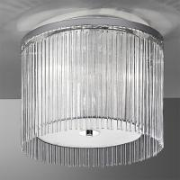 3 Light Chrome Ceiling Light with Delicate Glass Rods