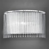 1 Light Chrome Wall Light with Delicate Glass Rods