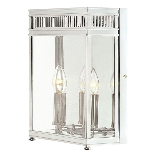 Period Outside Wall Lights : Elstead HL7-M-PC Holborn Period Outdoor Wall Lantern Polished Chrome