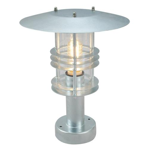 Parish Mini Pedestal Lantern: Elstead Norlys ST3-GALV Stockholm Outdoor Small Pedestal