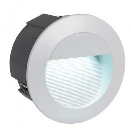 Recessed wall and stair lighting outdoor led recessed wall light silver finish aloadofball Images