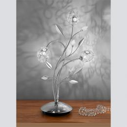 Designer modern table lamps 3 light table lamp polished chrome mozeypictures Image collections