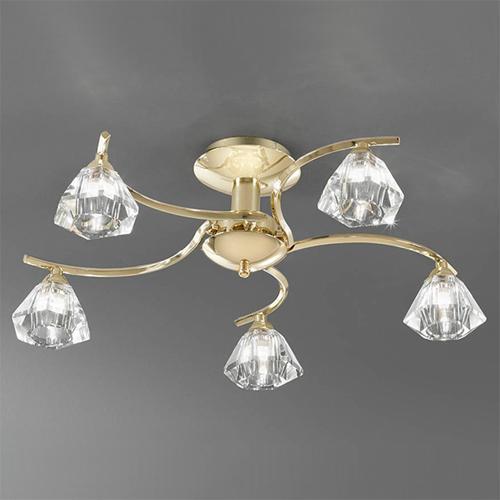 Brass Finish Ceiling Lights : Franklite fl twista light ceiling brass finish