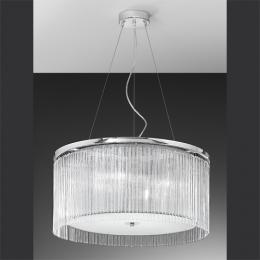 4 Light Chrome Ceiling Light with Delicate Glass Rods