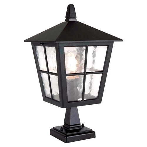 Elstead York Pedestal Lantern Light Black: Elstead BL50M Canterbury Period Outdoor Pedestal Lantern Black