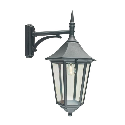 182 9214 Valentina Grande Led Large Outdoor Wall Lantern Black