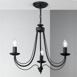 Wrought iron medieval ceiling lights 3 light ceiling light satin black mozeypictures Image collections